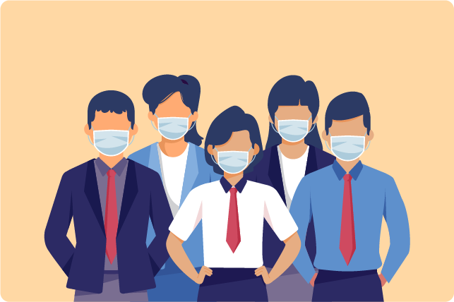 Wear a mask cover your nose and mouth