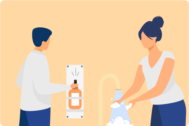 Wash your hands often with soap and water or use hand sanitizer with at least 60% alcohol